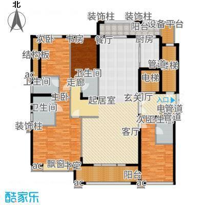 九龙仓雅戈尔铂翠湾220.00㎡D户型4室3厅