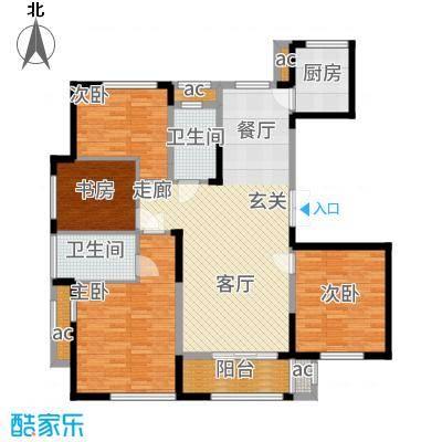 荣安凤凰城140.00㎡G户型4室2厅
