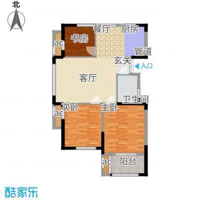 荣安凤凰城105.00㎡A户型3室2厅