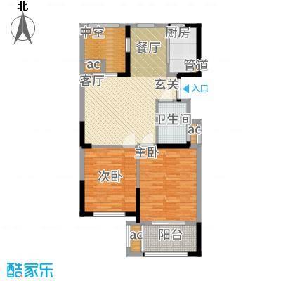 荣安凤凰城93.00㎡F户型2室2厅