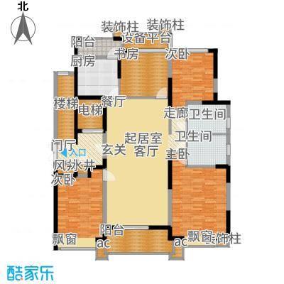 九龙仓雅戈尔铂翠湾170.00㎡C户型4室2厅