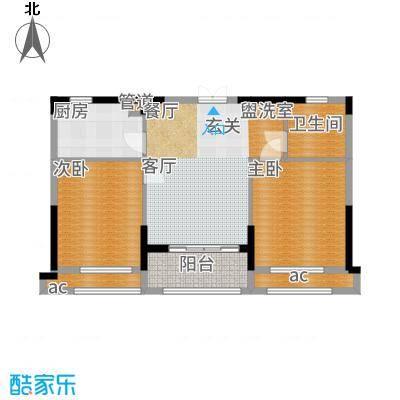 荣安凤凰城85.00㎡B户型2室2厅