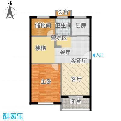 嘉悦景苑178.00㎡套房两侧复式一层平面户型4室2厅