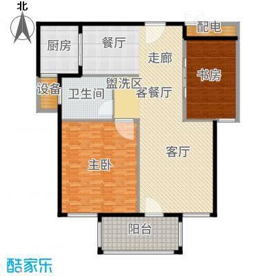 嘉悦景苑178.00㎡套房中间复式层一层户型5室2厅