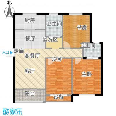 嘉悦景苑126.00㎡套房两侧标准层户型2室2厅
