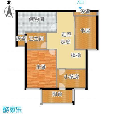 嘉悦景苑178.00㎡套房中间复式层二层户型5室2厅