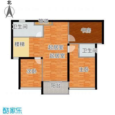 嘉悦景苑236.00㎡套房中间复式层二层平面户型5室2厅