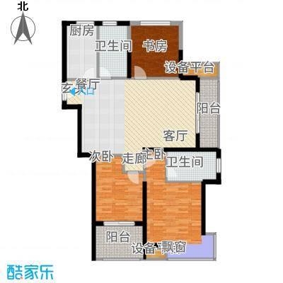 奥克斯盛世缔壹城115.00㎡中央南区E户型3室2厅