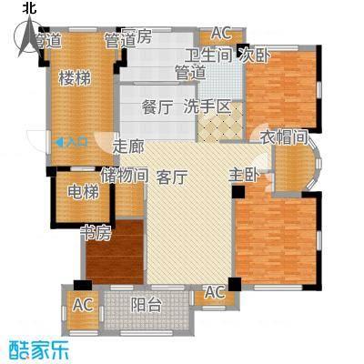 国骅文澜水岸182.00㎡G2平层户型5室2厅