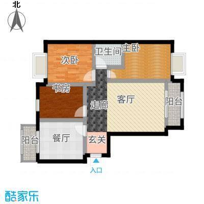悦城户型3室1厅