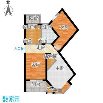 悦城G1-G2B户型2室1厅