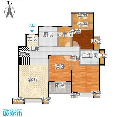 景瑞上府117.00㎡06_洋房4层户型3室2厅