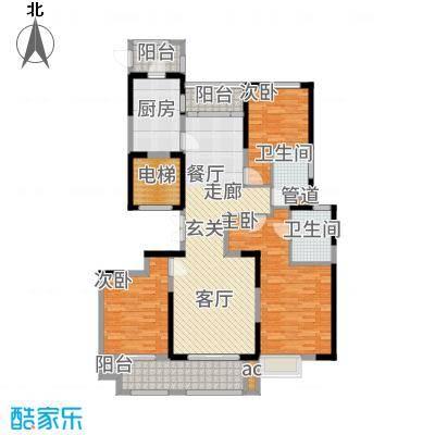 华侨城138.00㎡C3户型4室2厅