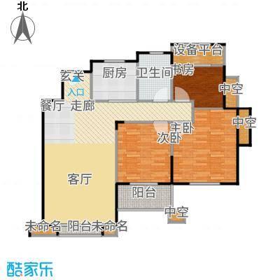 景瑞上府104.00㎡08_洋房6层户型3室2厅