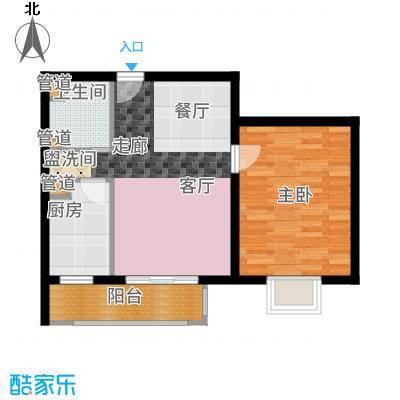 悦城G1-G5号楼户型1室1厅