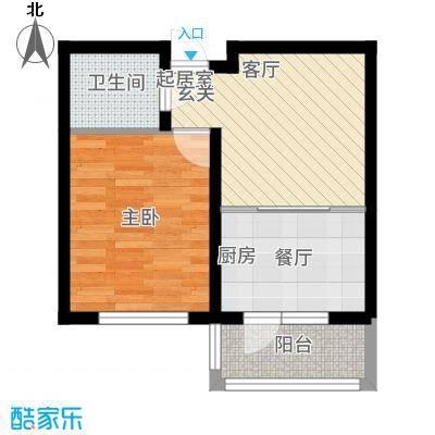 幸福里户型1室1厅