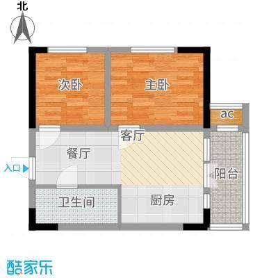金帆明居48.02㎡户型2室1厅
