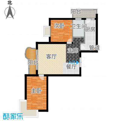 悦城G3-5号楼户型2室2厅
