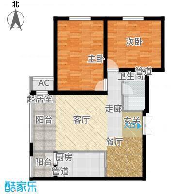 宝宇天邑澜湾103.09㎡17#3单元3号2室户型2室2厅