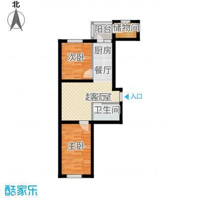 农垦新城户型2室1厅