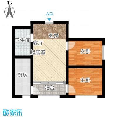 罗马公元78.12㎡使用面积户型2室1厅
