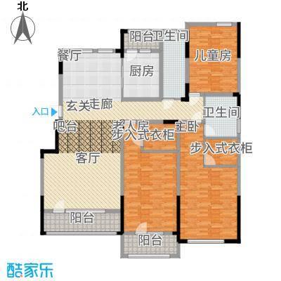 鲁商松江新城180.00㎡洋房E2三居户型