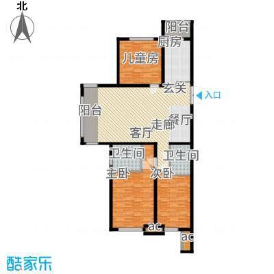 鲁商松江新城138.00㎡户型3室2厅