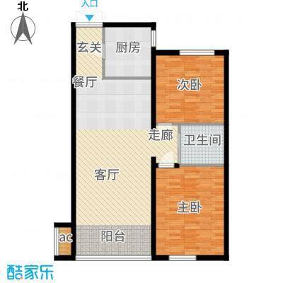 鲁商松江新城92.00㎡户型2室2厅