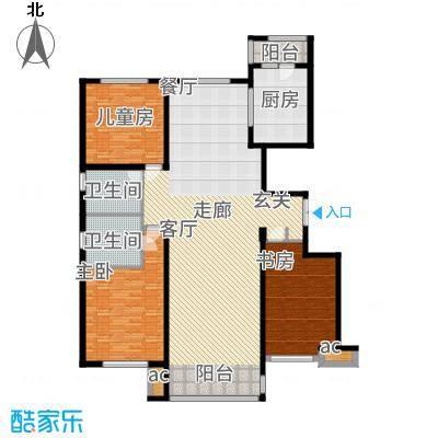 鲁商松江新城175.00㎡户型3室2厅