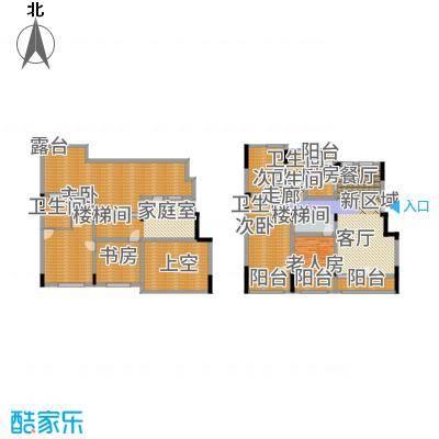 鲁商松江新城176.00㎡洋房E3五居户型