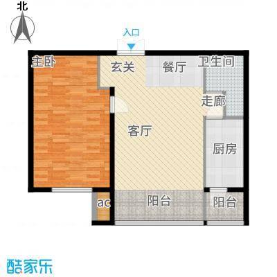 鲁商松江新城79.00㎡G户型1室2厅