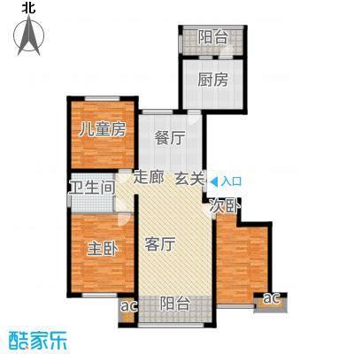 鲁商松江新城135.00㎡户型3室2厅