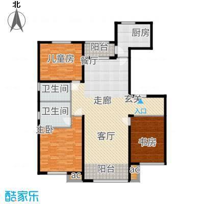 鲁商松江新城157.00㎡C户型3室2厅