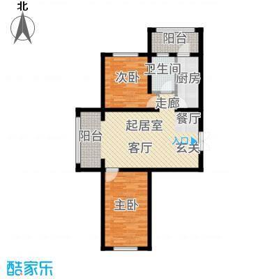 什河丽景99.98㎡户型2室1厅