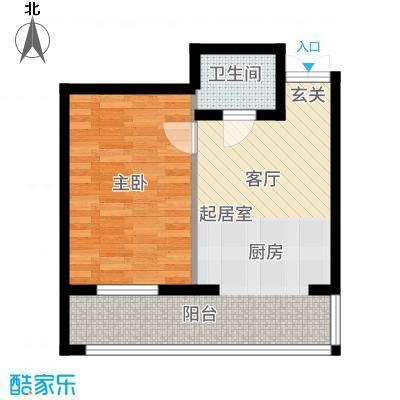 什河丽景敬老社区户型1室1厅