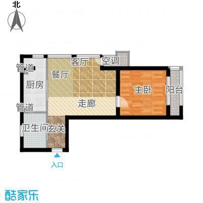 新松茂樾山55.00㎡新松·茂樾山D1户型1室1厅