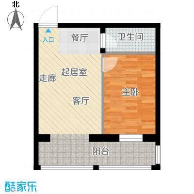 什河丽景敬老社区户型1室2厅