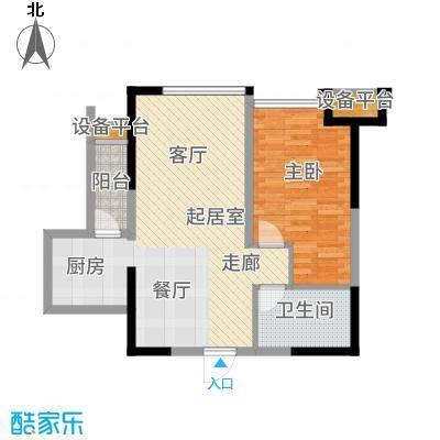 万象上东【】A栋G&apos户型1室2厅