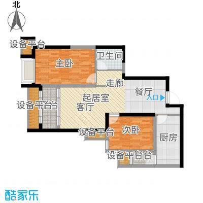 万象上东【】B栋L'户型2室2厅