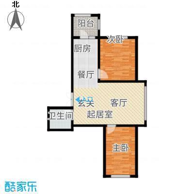 理想045197.53㎡A6--9753户型2室2厅