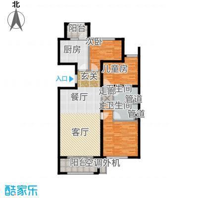 哈尔滨万达城119.00㎡万达城高层B2户型3室2厅