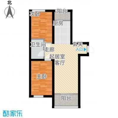 明光水岸户型2室1厅