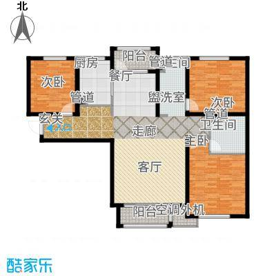 哈尔滨万达城134.00㎡万达城超高层C4户型3室2厅