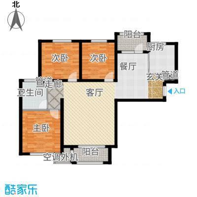 哈尔滨万达城119.00㎡万达城高层B1户型3室2厅