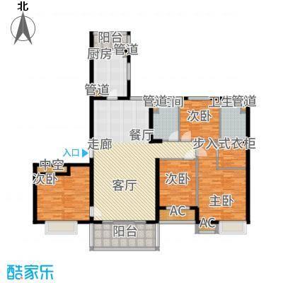 恒大帝景162.55㎡6#2单元2号四室户型4室2厅