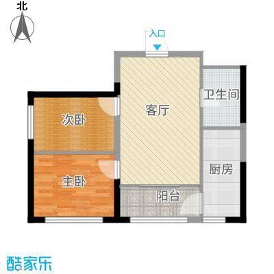 宏泽中央公园户型2室1厅