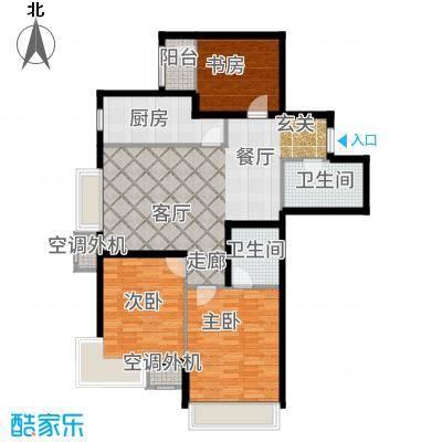 新松茂樾山108.00㎡新松·茂樾山A3户型3室2厅