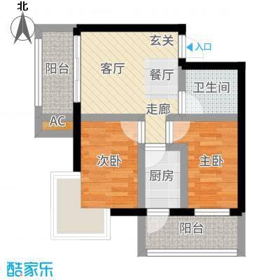 V时代B户型2室1厅