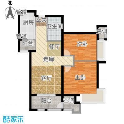 新松茂樾山90.00㎡新松·茂樾山D3户型2室2厅