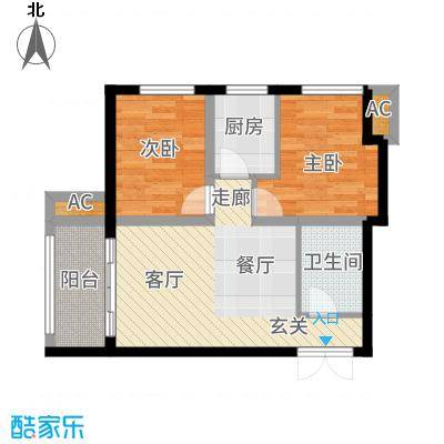 V时代A户型2室1厅